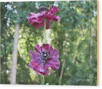 Wood Print featuring the photograph Purple Flowers by HEVi FineArt