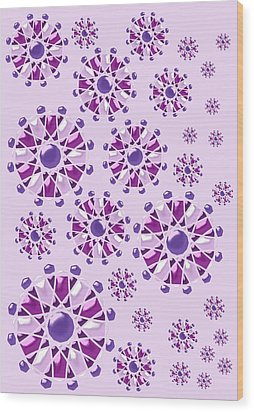 Purple Gems Wood Print by Anastasiya Malakhova