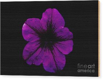 Wood Print featuring the photograph Purple Geranium by Scott Lyons