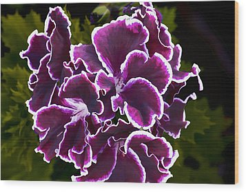 Wood Print featuring the digital art Purple Gernaium by Photographic Art by Russel Ray Photos
