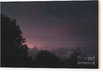 Purple Haze After Storm Wood Print by Gail Matthews