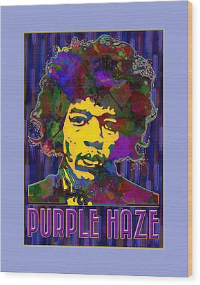 Purple Haze Wood Print by Gary Grayson