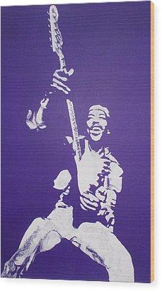 Purple Haze Wood Print by Gary Hogben