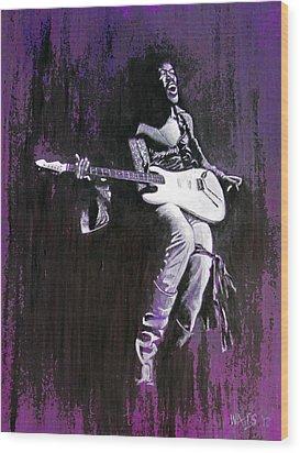 Purple Haze - Hendrix Wood Print by William Walts
