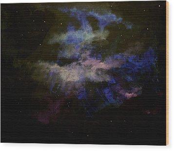 Purple Haze Wood Print by Kathy Peltomaa Lewis