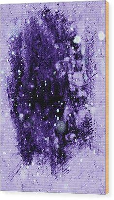 Purple Impression Wood Print