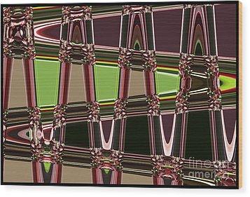 Purple Leaves Abstract Wood Print by Carol Groenen
