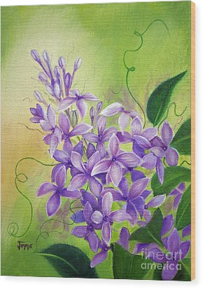 Purple Lilacs Wood Print by Jimmie Bartlett