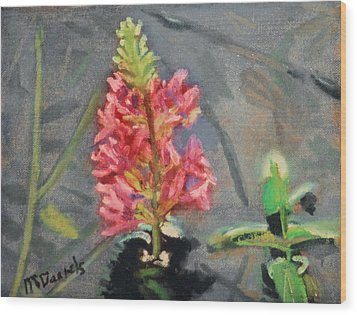 Wood Print featuring the painting Purple Loosestrife by Michael Daniels