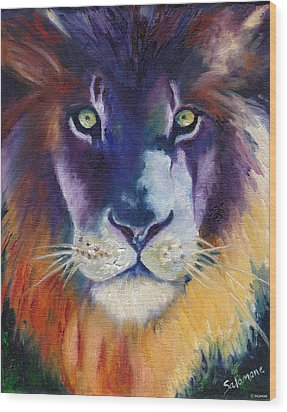 Purple Majesty Wood Print