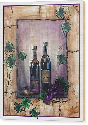 Hazy Purple Memories Wood Print