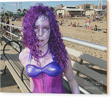 Wood Print featuring the photograph Purple Mermaid by Ed Weidman