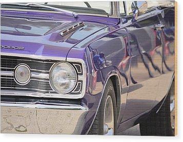 Purple Mopar Wood Print by Bonfire Photography