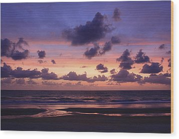 Purple Morning Wood Print by Kimberly Oegerle