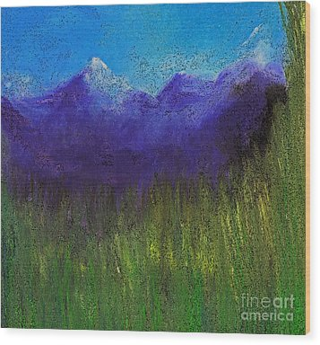 Purple Mountains By Jrr Wood Print by First Star Art