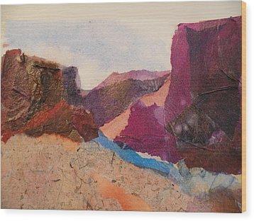 Purple Mountains Wood Print by Lori Chase
