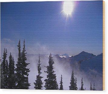 Purple Mountains Majesty Wood Print by Kym Backland