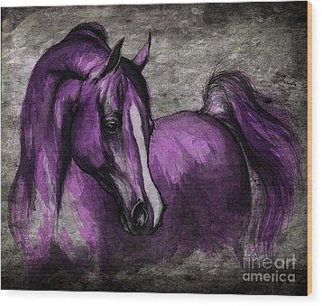 Purple One Wood Print by Angel  Tarantella