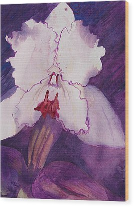 Purple Orchid Wood Print by Terry Holliday