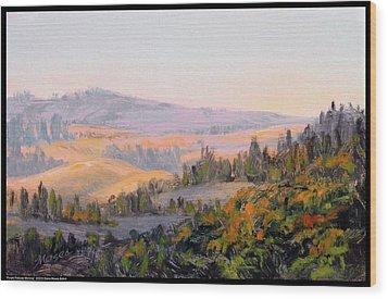 Purple Palouse Morning Wood Print
