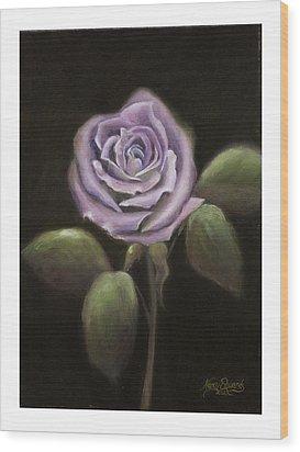 Purple Passion Wood Print by Nancy Edwards