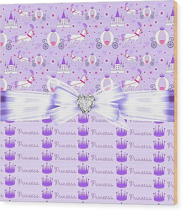 Purple Passion Princess  Wood Print by Debra  Miller