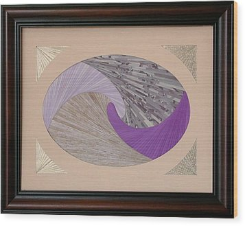 Wood Print featuring the mixed media Purple Passion by Ron Davidson