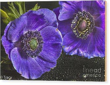 Purple Passion Wood Print by Tracy  Hall