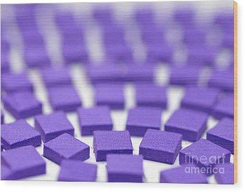 Purple Pattern Wood Print by Amy Cicconi