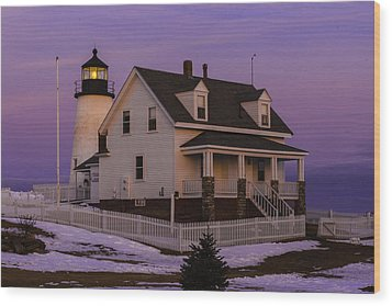 Purple Pemaquid Wood Print