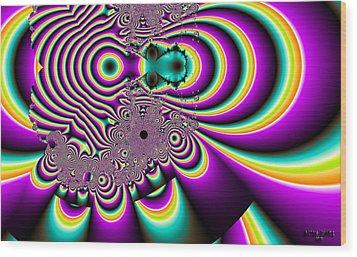 Purple People Eater Wood Print