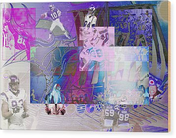 Purple People Eaters Wood Print by Jimi Bush
