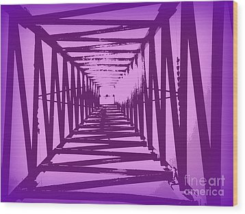 Purple Perspective Wood Print by Clare Bevan
