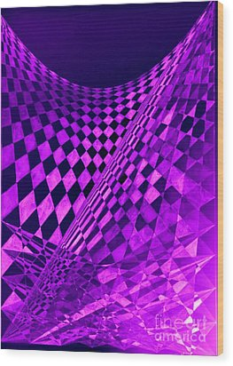 Purple Perspectives Wood Print
