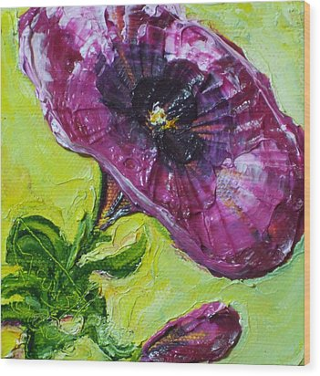 Purple Petunia Wood Print by Paris Wyatt Llanso