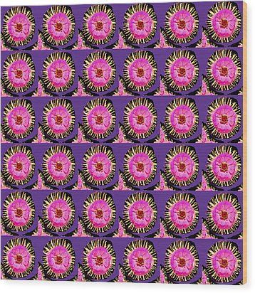 Purple Pink Flower Pattern Decoration Background Designs  And Color Tones N Color Shades Available F Wood Print by Navin Joshi