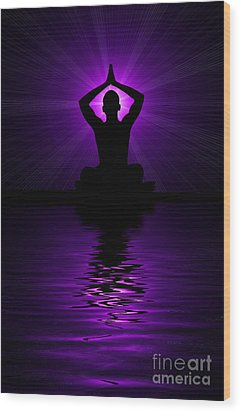 Purple Prayer Wood Print by Tim Gainey