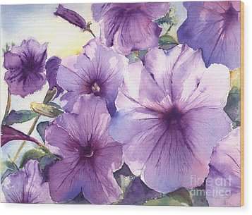 Purple Profusion Wood Print