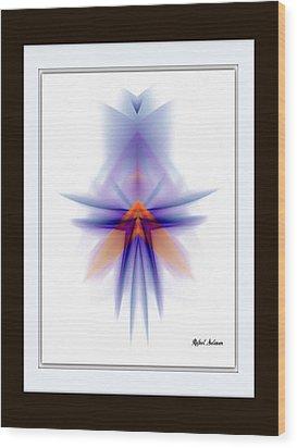 Wood Print featuring the painting Purple Rain by Rafael Salazar