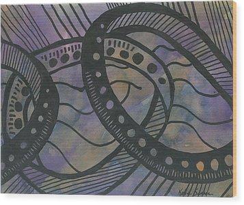 Purple Rings Wood Print