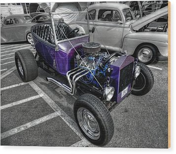 Purple Rod 001 Wood Print by Lance Vaughn