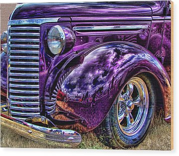 Purple Wood Print by Ron Roberts