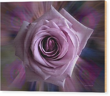 Purple Rose Wood Print by Thomas Woolworth