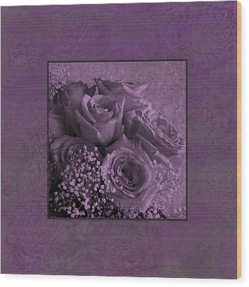 Wood Print featuring the photograph Purple Roses Delight by Sandra Foster