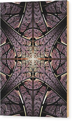 Purple Shield Wood Print by Anastasiya Malakhova