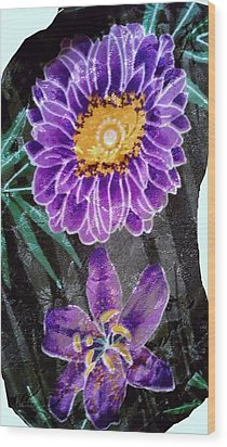 Wood Print featuring the photograph Purple Silk by Fortunate Findings Shirley Dickerson
