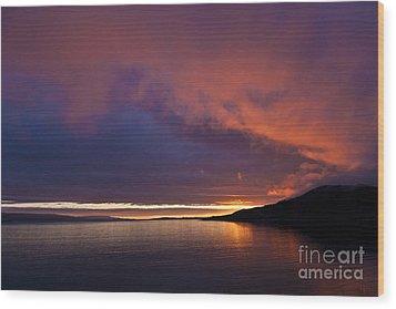 Purple Skies Wood Print by Heiko Koehrer-Wagner