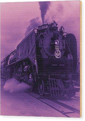 Purple Smoke Wood Print by Bartz Johnson
