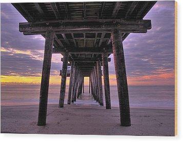 Purple Sunrise Wood Print by Dan Myers