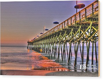 Wood Print featuring the photograph Purple Sunrise by Ed Roberts